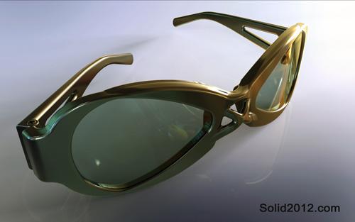دانلود فیلم آموزش سالیدورک مدل طراحی عینک اسپرت