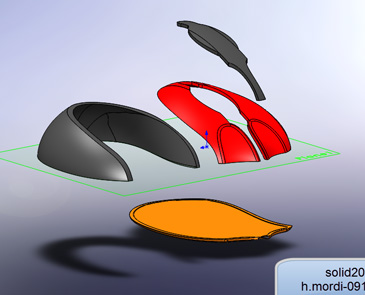آموزش splite solidworks